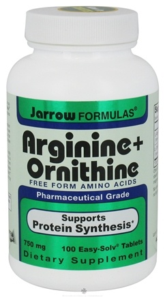 DROPPED: Jarrow Formulas - Arginine + Ornithine Free Form Amino Acids 750 mg. - 100 Tablets