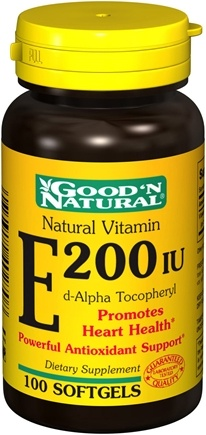 Zoom View - Natural Vitamin E d-Alpha Tocopheryl