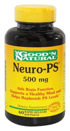 DROPPED: Good 'N Natural - Neuro-PS 500 mg. - 60 Softgels