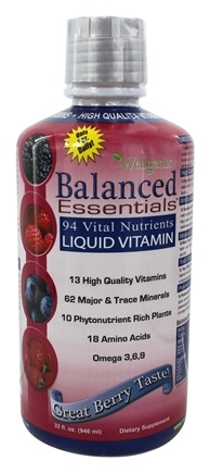 Heaven Sent - Wellgenix Balanced Essentials Liquid Vitamin Very Berry - 32 oz.