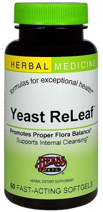 DROPPED: Herbs Etc - Yeast ReLeaf Alcohol Free - 60 Softgels CLEARANCE PRICED