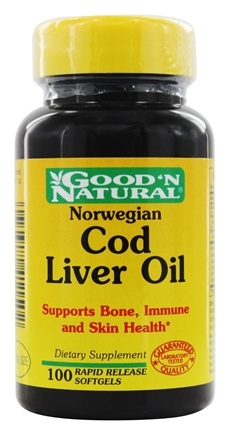 DROPPED: Good 'N Natural - Norwegian Cod Liver Oil - 100 Softgels