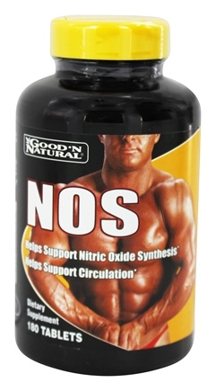 DROPPED: Good 'N Natural - NOS Nitric Oxide Synthesis - 180 Tablets