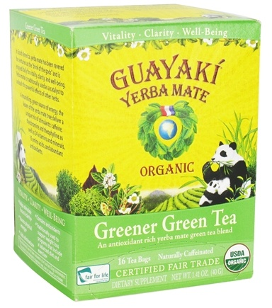 Zoom View - Yerba Mate Greener Green Tea 100% Organic