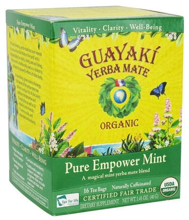 DROPPED: Guayaki - Yerba Mate Pure Empower Mint 100% Organic - 16 Tea Bags