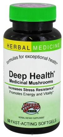 DROPPED: Herbs Etc - Deep Health Medicinal Mushrooms Alcohol Free - 60 Softgels CLEARANCED PRICED
