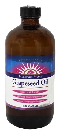Heritage - Grapeseed Oil 100% Pure Expeller Pressed Massage Oil - 16 oz.