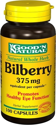DROPPED: Good 'N Natural - Bilberry 375 mg. - 100 Capsules