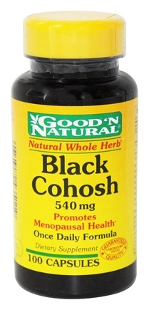 DROPPED: Good 'N Natural - Black Cohosh 540 mg. - 100 Capsules