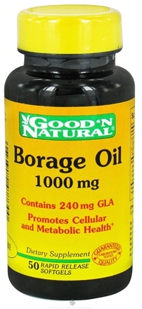 DROPPED: Good 'N Natural - Borage Oil Contains GLA 1000 mg. - 50 Softgels