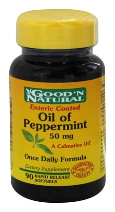 DROPPED: Good 'N Natural - Oil of Peppermint 50 mg. - 90 Softgels