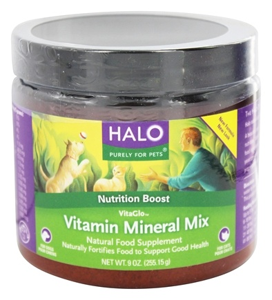 DROPPED: Halo Purely for Pets - VitaGlo Vitamin Mineral Mix - 9 oz. Formerly Vita Anitra's herbal formulation