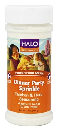 DROPPED: Halo Purely for Pets - Dinner Party Sprinkle Chicken & Herbs Seasoning - 2.7 oz.