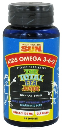 DROPPED: Health From The Sun - Kids Omega 3-6-9 The Total EFA Junior - 90 Softgels CLEARANCE PRICED