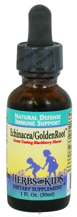 DROPPED: Herbs for Kids - Echinacea/GoldenRoot Blend Blackberry - 1 oz. CLEARANCE PRICED