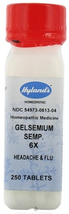 DROPPED: Hylands - Gelsemium Sempervirens 6 X - 250 Tablets CLEARANCE PRICED