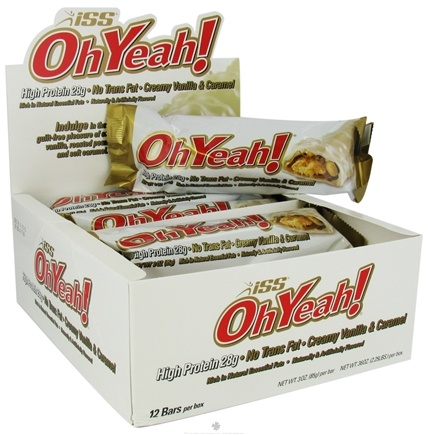 DROPPED: ISS Research - OhYeah High Protein Bar Creamy Vanilla & Caramel - 3 oz.