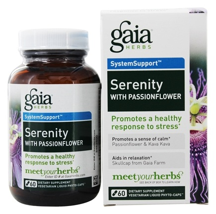 DROPPED: Gaia Herbs - Serenity with Passionflower Liquid Phyto Capsules - 60 Vegetarian Capsules