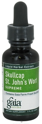 DROPPED: Gaia Herbs - Skullcap/Saint Johns Wort Supreme - 1 oz.