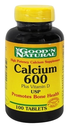 DROPPED: Good 'N Natural - Calcium 600 plus Vitamin D 1200 mg. - 100 Tablets