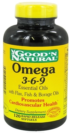 DROPPED: Good 'N Natural - Omega 3-6-9 Flax, Fish & Borage Oils - 120 Softgels