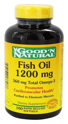 DROPPED: Good 'N Natural - Omega-3 Fish Oil 1200 mg. - 100 Softgels