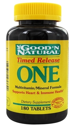 DROPPED: Good 'N Natural - One Long Acting Multiple Vitamin and Mineral Supplement Time Release - 180 Tablets