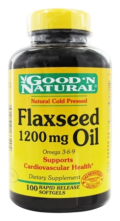 DROPPED: Good 'N Natural - Organic Flaxseed Oil Omega 3-6-9 1200 mg. - 100 Softgels