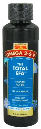 DROPPED: Health From The Sun - Omega 3-6-9 Total EFA with Pure Fish Oil Orange Clove Flavor - 8 oz. CLEARANCE PRICED