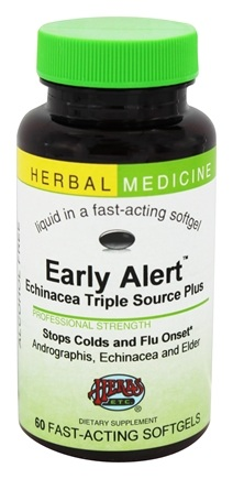 Herbs Etc - Early Alert Echinacea Triple Source Plus Alcohol Free - 60 Softgels