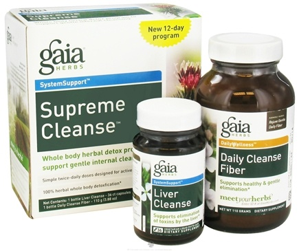 DROPPED: Gaia Herbs - Supreme Cleanse Kit Gentle Two Week Program Mixed Berry Flavor