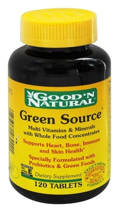 DROPPED: Good 'N Natural - Green Source - 120 Tablets
