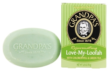 DROPPED: Grandpa's Soap Co. - Rejuvenating Love My Loofah Soap with Chlorophyll & Green Tea - 3.25 oz.
