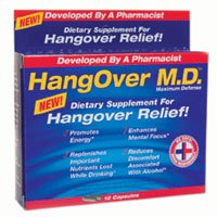 DROPPED: HangOver M.D. - Hangover Relief - 12 Capsules