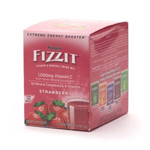 DROPPED: Hansen's - Fizzitt - Vitamin & Mineral Drink Mix Strawberry - 24 Packet(s)