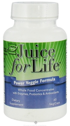 DROPPED: Hero Nutritionals Products - Juice for Life Power Vegetable Formula - 60 Vegetarian Capsules