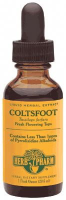 DROPPED: Herb Pharm - Coltsfoot Extract (P.A. Free) - 1 oz.