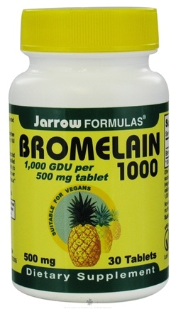DROPPED: Jarrow Formulas - Bromelain 1000 500 mg. - 30 Tablets CLEARANCE PRICED