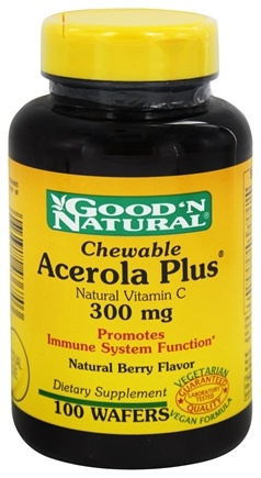 DROPPED: Good 'N Natural - Chewable Acerola Plus Natural Vitamin C 300 mg. - 100 Tablets