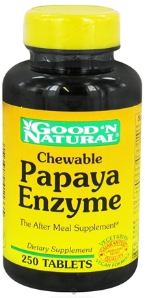 DROPPED: Good 'N Natural - Chewable Papaya Enzyme - 250 Tablets