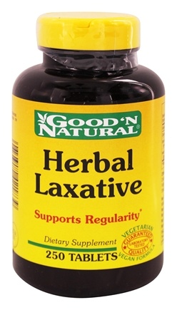 DROPPED: Good 'N Natural - Herbal Laxative - 250 Tablets