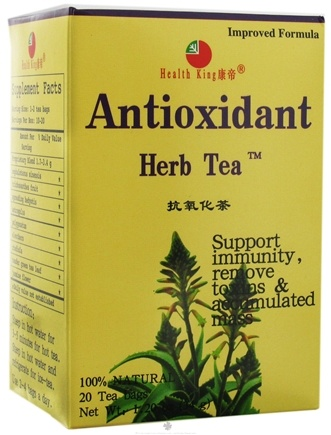 DROPPED: Health King - Antioxidant Herb Tea - 20 Tea Bags CLEARANCE PRICED