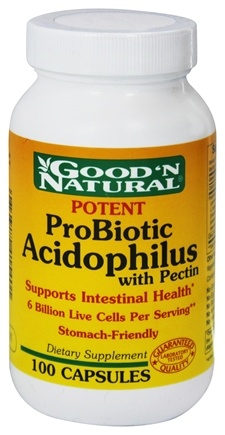 DROPPED: Good 'N Natural - Potent ProBiotic Acidophilus with Pectin - 100 Capsules