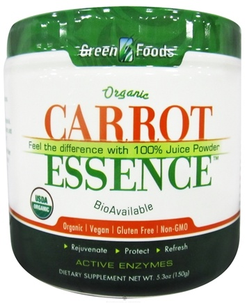 DROPPED: Green Foods - Carrot Essence Organic - 5.3 oz. CLEARANCE PRICED