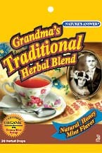 Zoom View - Grandma's Traditional Herbal Blend Drops Original Honey Mint Flavor