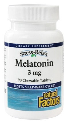 DROPPED: Natural Factors - Stress-Relax Melatonin 3 mg. - 90 Chewable Tablets