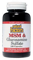 DROPPED: Natural Factors - MSM 500 Mg & Glucosamine Sulfate 375 Mg - 90 Capsules