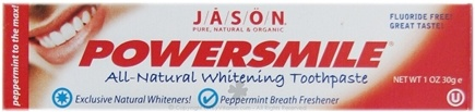 DROPPED: Jason Natural Products - PowerSmile All Natural Whitening Toothpaste - 1 oz.