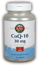 DROPPED: Kal - CoQ10 30mg - 90 Tablets