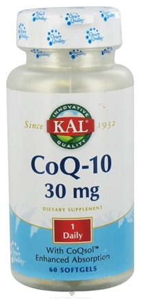 DROPPED: Kal - Co-Q-10 30 mg. - 60 Softgels CLEARANCE PRICED